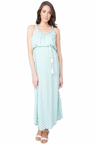 Ripe Maternity Chevron Maternity Maxi Dress