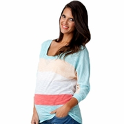 Ripe Maternity Color Block Slub Knit Tee