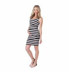 Ripe Maternity Criss Cross Stripe Dress
