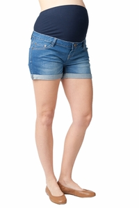 Ripe Maternity Cuffed Denim Shorty Shorts