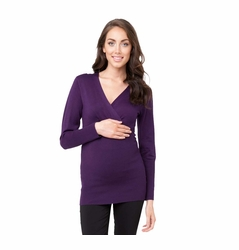 Ripe Maternity Fitted Crossover Knit Top