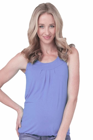 SOLD OUT Ripe Maternity Jojo Bamboo Pleated Tank Top