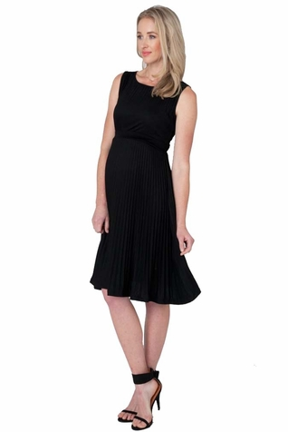 SOLD OUT Ripe Maternity Knife Pleat Sleeveless Dress