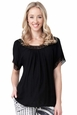 Ripe Maternity Lace Trim Woven Peasant Top