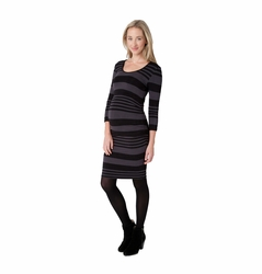 Ripe Maternity Nursing Stripe Tube Dress