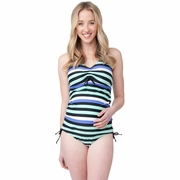 Ripe Maternity Striped Tankini Swimsuit