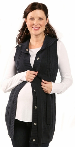 SOLD OUT Ripe Maternity Cable Knit Cardigan Sweater Vest
