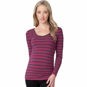 Ripe Maternity Whistler Stripe Long Sleeve Tee