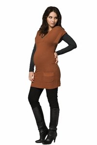 Ripe V Neck Maternity Tunic Sweater
