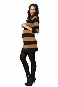 Ripe Victoria Rugby Striped Maternity Sweater Dress Tunic