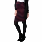 Ripe Maternity Whistler Stripe Knit Skirt