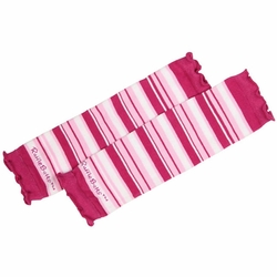 SOLD OUT RuffleButts Fuchsia Pink 3 Stripe Legwarmers