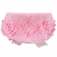 RuffleButts Pink With Pink Bow Bloomer - Diaper Cover