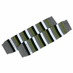 "RuggedButts Grey Green Blue ""3 Stripes You're Out"" LegWarmers"