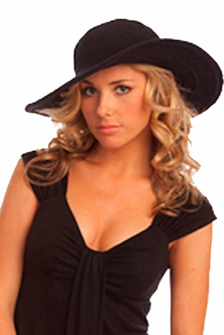 SOLD OUT Santiki Crochet Cowboy Sun Hat - Black