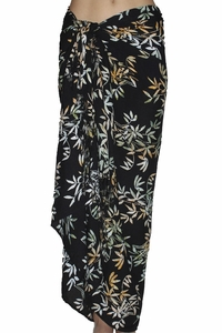 SOLD OUT Santiki Full Sarong - Black Bamboo Leaf
