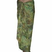 Santiki Full Sarong - Green Palm Leaf