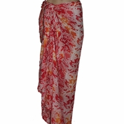 Santiki Full Sarong - Pink/Orange Snake