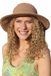 Santiki Sally Crochet Sun Hat - Brown