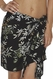 SOLD OUT Santiki Short Sarong - Black Bamboo Leaf