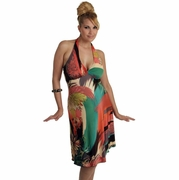 See You In Miami Short Halter Maternity Dress - FINAL SALE