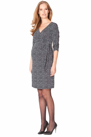 Seraphine 3/4 Sleeve Renata Faux Wrap Maternity Nursing Dress