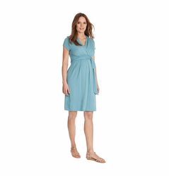 Seraphine Abbey Wrap Tie Maternity Dress