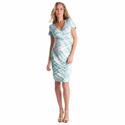 Seraphine Abella Ruched Faux Wrap Maternity Nursing Dress
