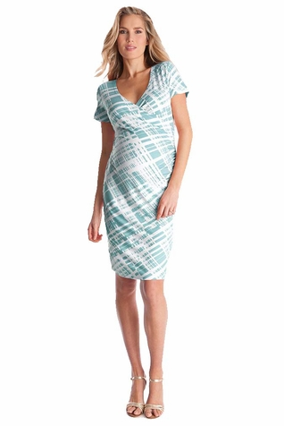 SOLD OUT Seraphine Abella Ruched Faux Wrap Maternity Nursing Dress