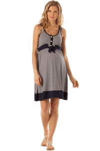 Seraphine Alana Nautical Stripe Maternity And Nursing Dress
