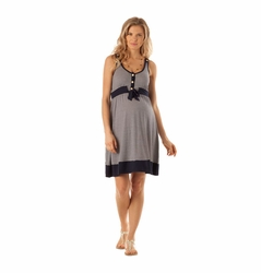 Seraphine Alana Nautical Stripe Maternity Nursing Dress