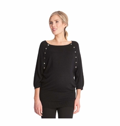 Seraphine Alexia Maternity Nursing Snap Down Knit Sweater