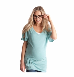 Seraphine Anthea Knitted Linen/Cotton Maternity Nursing Tunic