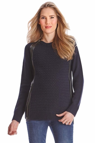 SOLD OUT Seraphine Asha Double Zip Maternity Nursing Sweater