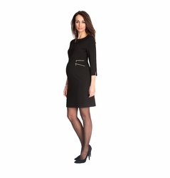 Seraphine Audrey Double Side Zipper Maternity Dress