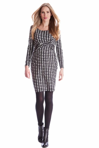SOLD OUT Seraphine Audrina Side Twist Circle Print Maternity Dress