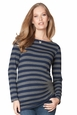 Seraphine Bailey Side Pleated Striped Maternity Top