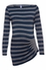 SOLD OUT Seraphine Bailey Side Pleated Striped Maternity Top