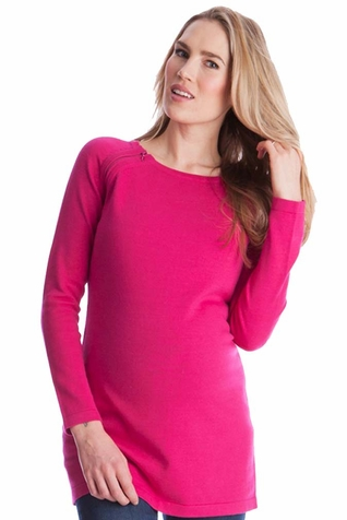 Seraphine Bexley Long Line Maternity Nursing Sweater