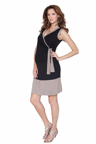SOLD OUT Seraphine Bianca Sleeveless Faux Wrap Maternity And Nursing Dress