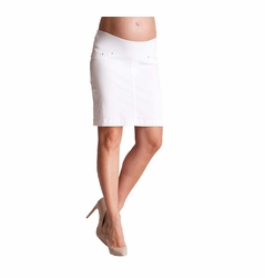 Seraphine Blakely Slim Fit Underbump Denim Maternity Skirt
