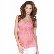 Seraphine Brandi Boho Print Woven Maternity And Nursing Strappy Top