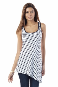 SOLD OUT Seraphine Brianna Loose Asymmetrical Striped Tank