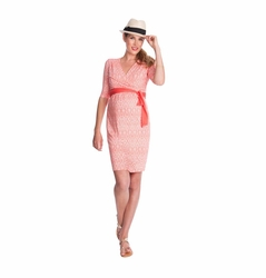 Seraphine Callie Jersey Maternity Nursing Wrap Dress