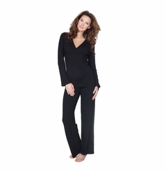 TEMPORARILY OUT OF STOCK Seraphine Camille Bamboo Maternity Nursing Pajama Set