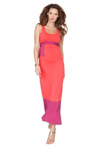 SOLD OUT Seraphine Candon Color Block Sleeveless Maternity Maxi Dress