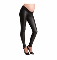 Seraphine Cici Underbelly Pleather Maternity Leggings