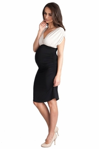 SOLD OUT Seraphine Dahlia Color Block Cocktail Maternity Dress
