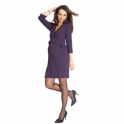 Seraphine Debbie 3/4 Sleeve Peplum Maternity Dress