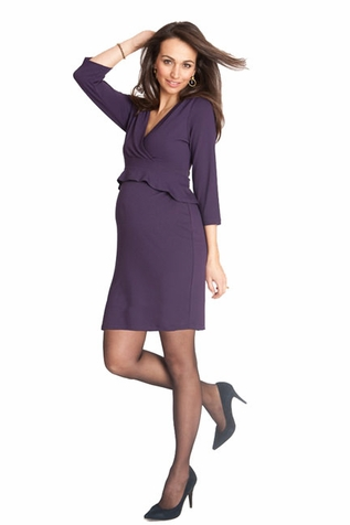 SOLD OUT Seraphine Debbie 3/4 Sleeve Peplum Maternity Dress
